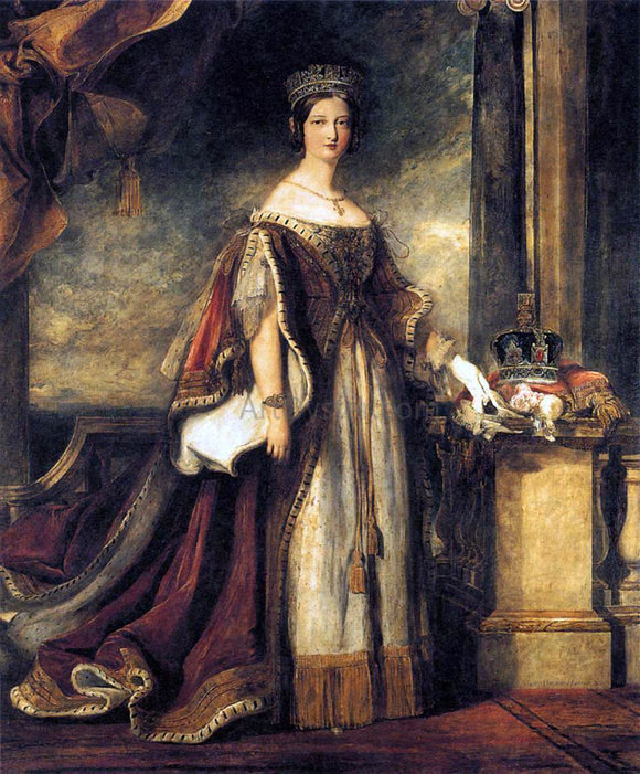 Sir David Wilkie Queen Victoria (detail) - Canvas Art Print