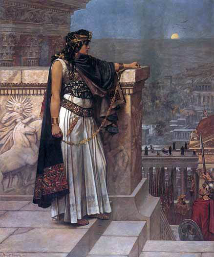 Herbert Gustave Schmalz Queen Zenobia's Last Look upon Palmyra - Canvas Art Print