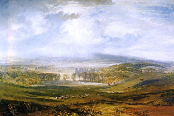 Joseph William Turner Raby Castle, the Seat of the Earl of Darlington - Canvas Art Print