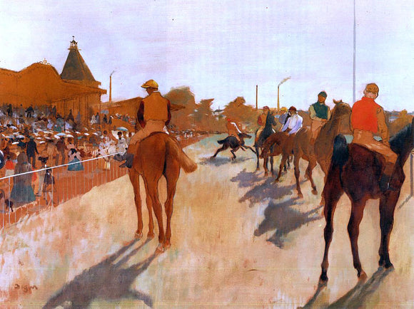 Edgar Degas Racehorses Before the Stands - Canvas Art Print