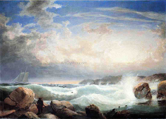 Robert Salmon Rafe's Chasm, Gloucester, Massachusetts - Canvas Art Print