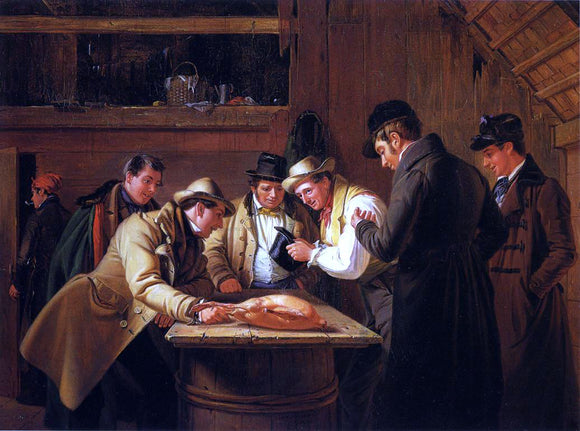 William Sidney Mount Raffling for the Goose (also known as The Raffle) - Canvas Art Print