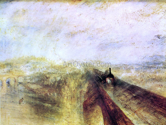 Joseph William Turner Rail, Steam and Speed - the Great Western Railway - Canvas Art Print