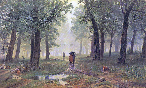 Ivan Ivanovich Shishkin Rain in the Oak Grove - Canvas Art Print