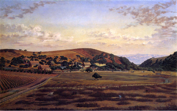 Joseph Lee Ralston Hall and its Grounds, San Mateo County - Canvas Art Print