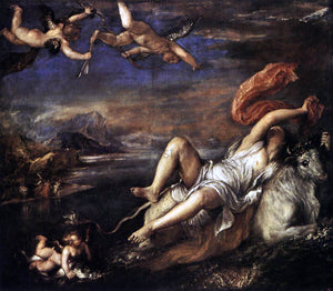 Titian Rape of Europa - Canvas Art Print