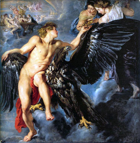 Peter Paul Rubens Rape of Ganymede - Canvas Art Print