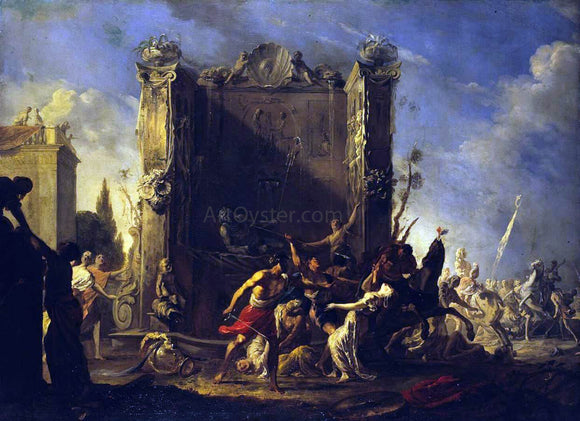 Johann Heinrich Schonfeld Rape of the Sabine Women - Canvas Art Print