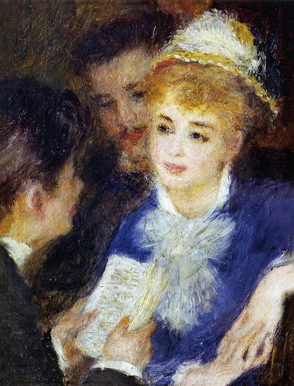 Pierre Auguste Renoir Reading the Part - Canvas Art Print