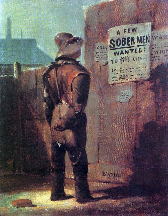 David Gilmore Blythe Recruits Wanted - Canvas Art Print