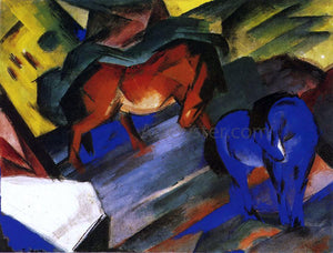 Franz Marc Red and Blue Horse - Canvas Art Print