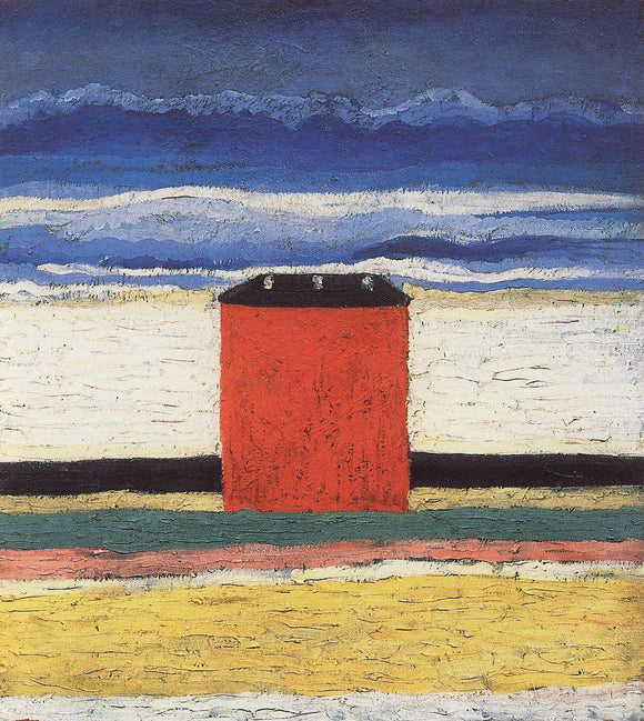 Kazimir Malevich Red House - Canvas Art Print
