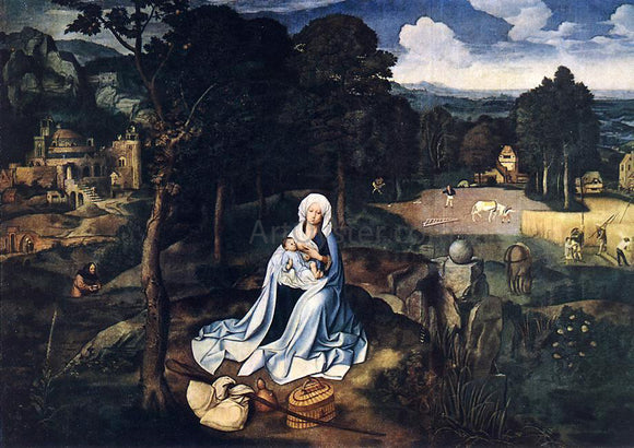 Joachim Patenier Rest during the Flight to Egypt - Canvas Art Print