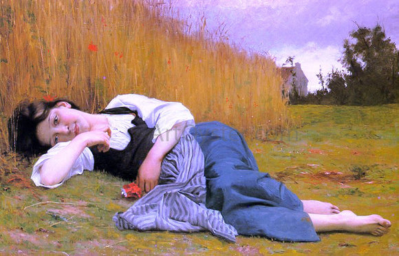 William Adolphe Bouguereau Rest in Harvest - Canvas Art Print
