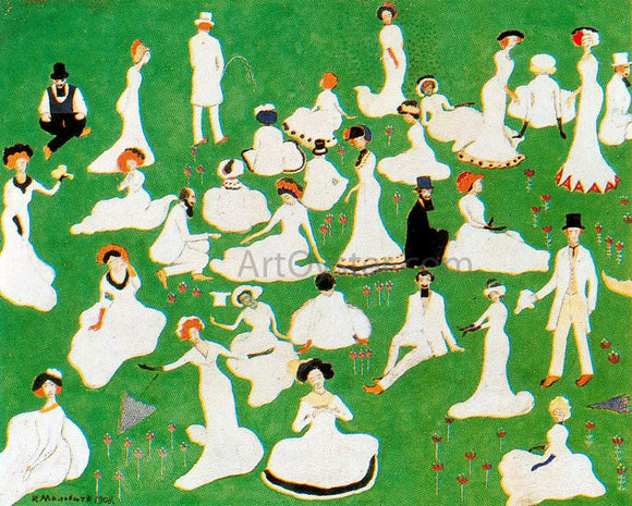 Kazimir Malevich Rest Society in Top Hats - Canvas Art Print