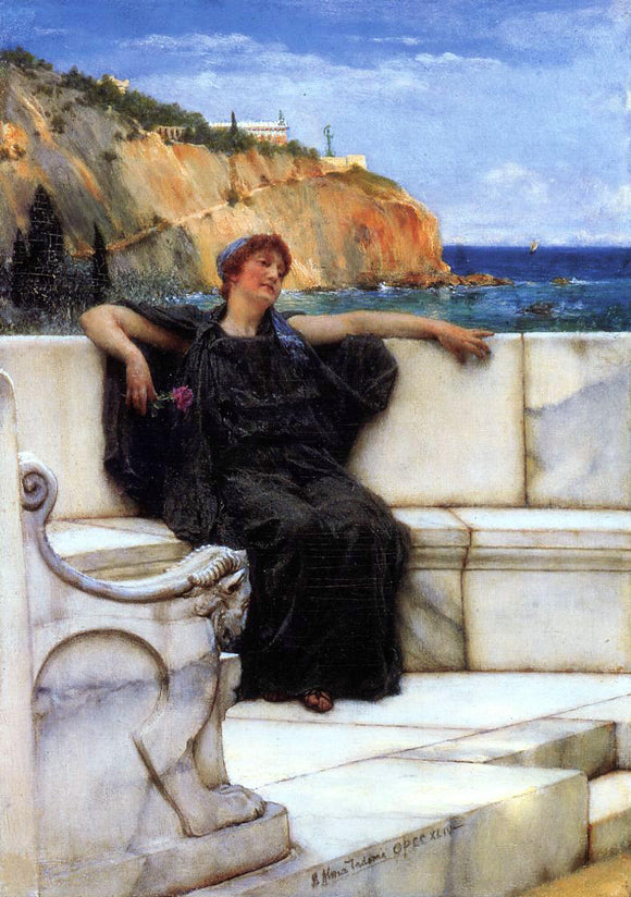 Sir Lawrence Alma-Tadema Resting - Canvas Art Print