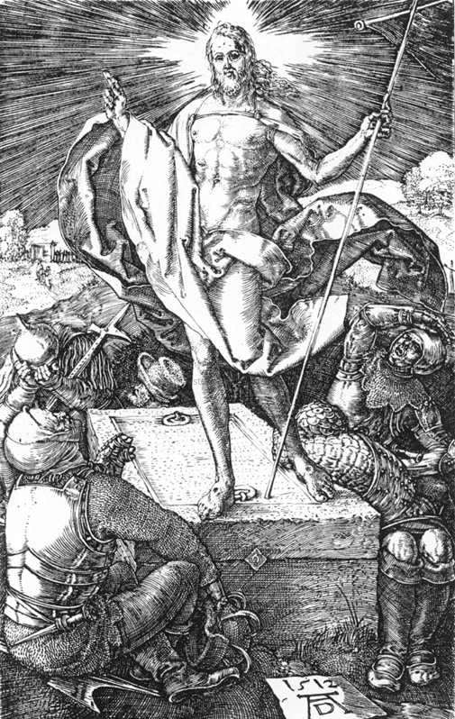 Albrecht Durer Resurrection (No. 15) - Canvas Art Print
