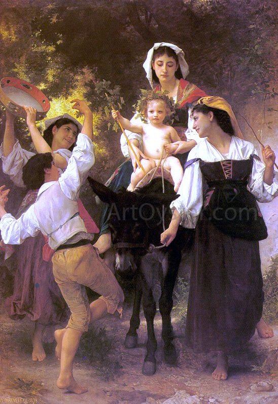William Adolphe Bouguereau Return from the Harvest - Canvas Art Print