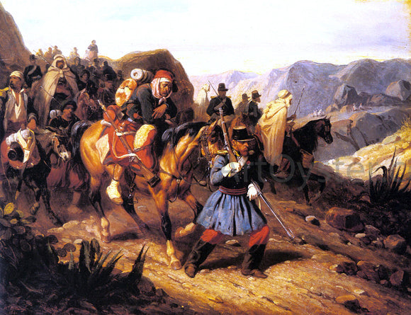 Hippolyte Bellange Returning from Battle - Canvas Art Print