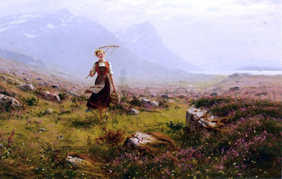 Hans Dahl Returning from the Fields - Canvas Art Print