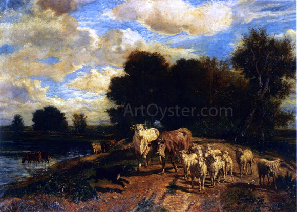 Giuseppe Palizzi Returning to Pasture - Canvas Art Print