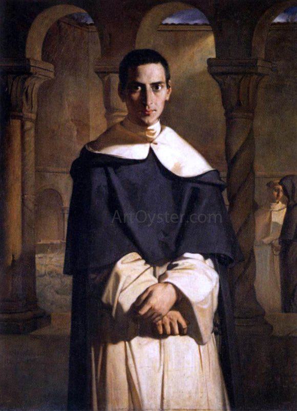 Theodore Chasseriau Reverend Father Dominique Lacordaire - Canvas Art Print