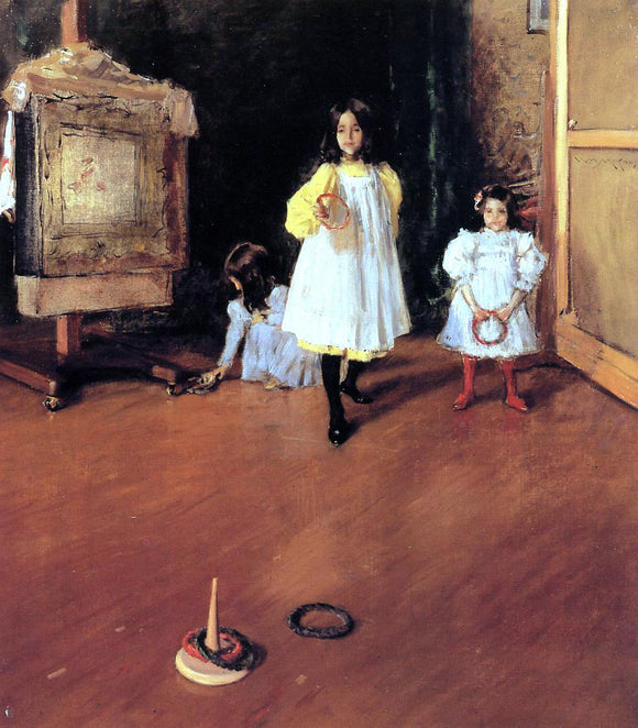 William Merritt Chase Ring Toss - Canvas Art Print