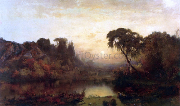 Joseph Morviller River at Dusk - Canvas Art Print
