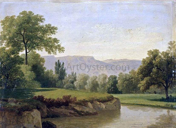 Adam-Wolfgang Topffer River Landscape - Canvas Art Print