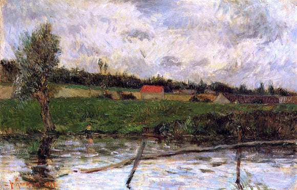 Paul Gauguin Riverside (also known as Breton Landscape) - Canvas Art Print