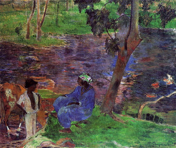 Paul Gauguin Riverside - Canvas Art Print