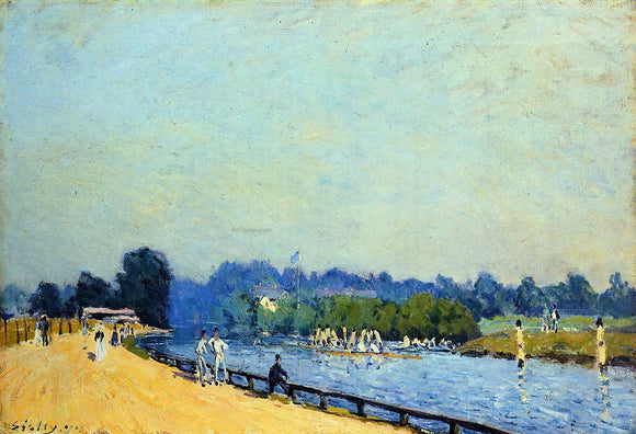 Alfred Sisley Road from Hampton Court - Canvas Art Print