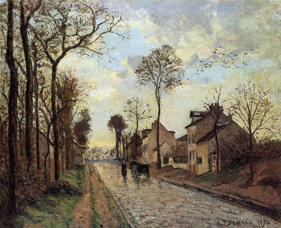 Camille Pissarro Road in Louveciennes - Canvas Art Print