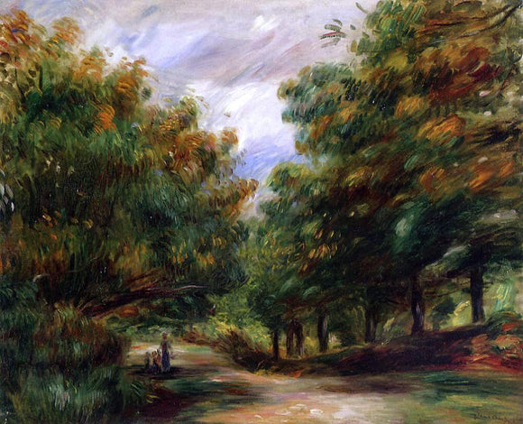 Pierre Auguste Renoir Road near Cagnes - Canvas Art Print