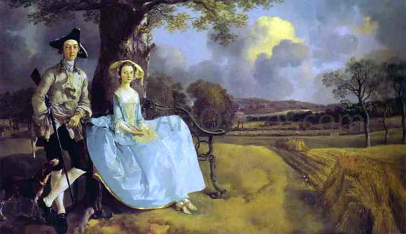 Thomas Gainsborough Robert Andrews and His Wife Frances - Canvas Art Print