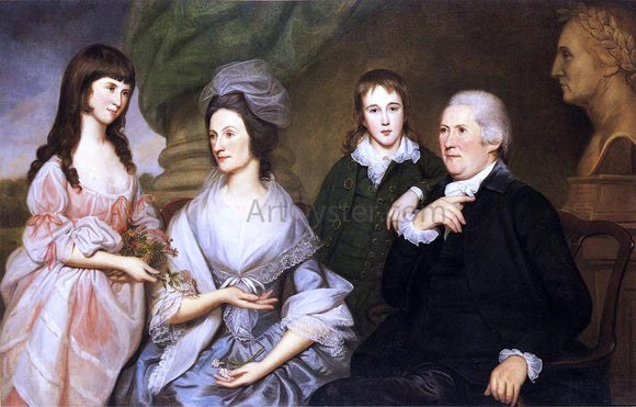 Charles Willson Peale Robert Goldsborough and Family - Canvas Art Print