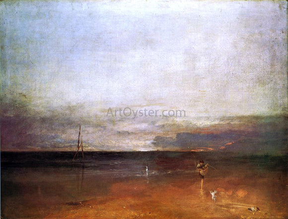 Joseph William Turner Rocky Bay with Figures - Canvas Art Print