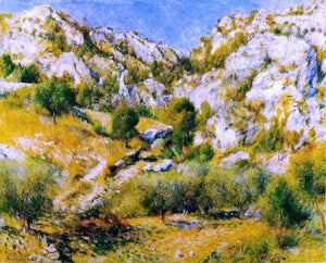 Pierre Auguste Renoir Rocky Craggs at l'Estaque - Canvas Art Print