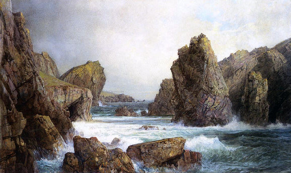William Trost Richards Rocky Inlet - Canvas Art Print