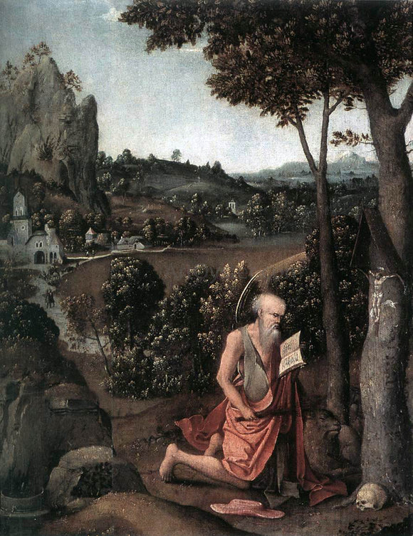 Joachim Patenier Rocky Landscape with Saint Jerome - Canvas Art Print
