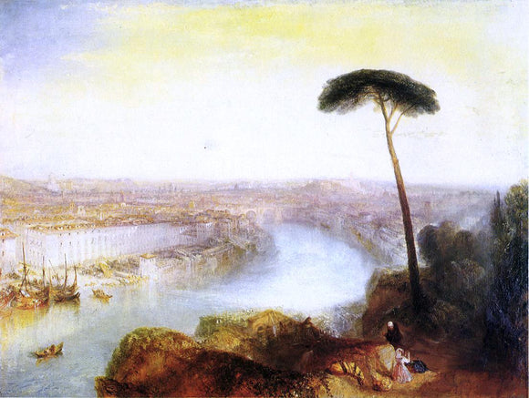 Joseph William Turner Rome from Mount Aventine - Canvas Art Print
