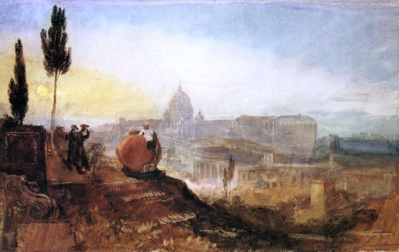 Joseph William Turner Rome: St. Peter's from the Villa Barberini - Canvas Art Print
