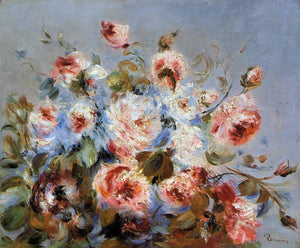 Pierre Auguste Renoir Roses from Wargemont - Canvas Art Print