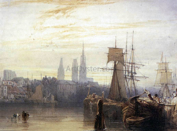 Richard Parkes Bonington Rouen - Canvas Art Print