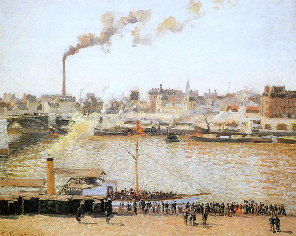 Camille Pissarro Rouen, Saint-Sever: Morning - Canvas Art Print