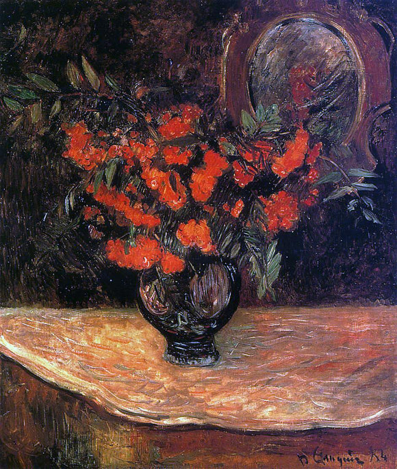 Paul Gauguin Rowan Bouquet - Canvas Art Print