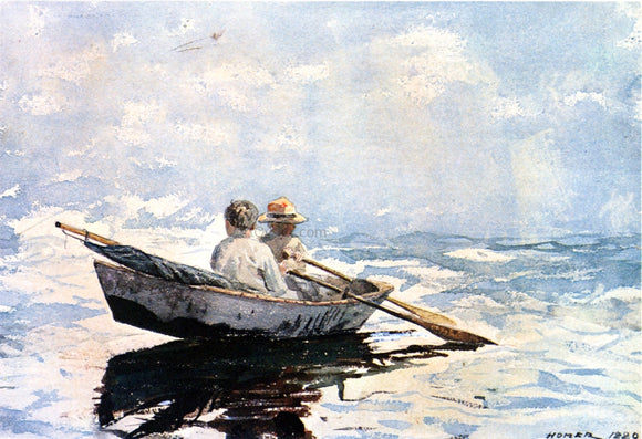 Winslow Homer A Rowboat - Canvas Art Print