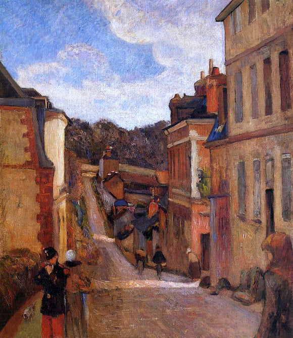 Paul Gauguin Rue Jouvenet, Rouen - Canvas Art Print