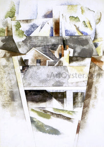 Charles Demuth Sailboats and Roofs - Canvas Art Print