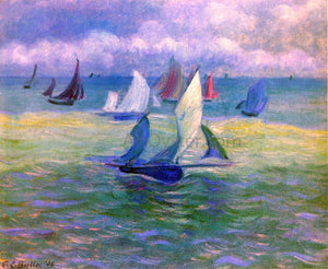 Theodore Earl Butler Sailboats on the Water - Canvas Art Print